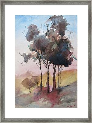 Framed Print featuring the painting Trees by Geni Gorani