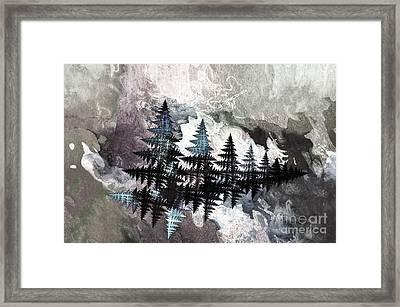 Trees Framed Print by Geraldine DeBoer