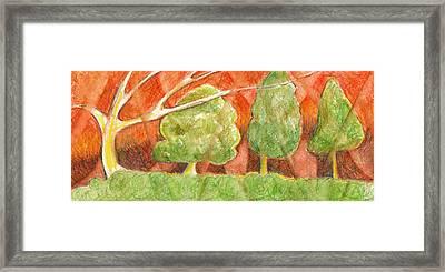 Trees In Light Framed Print by Linda Kay Thomas