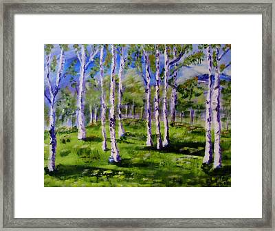 Trees In The Meadow Framed Print