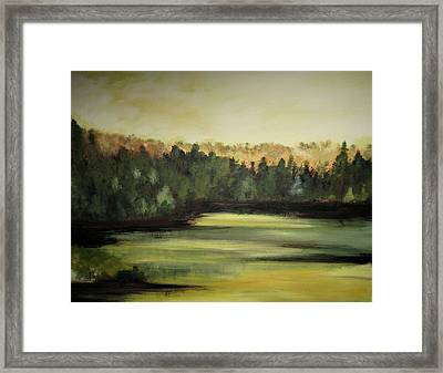 Trees In The Mist3 Framed Print by Marcia Crispino