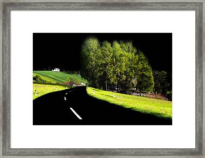 Framed Print featuring the photograph Trees In Upper Austria by Sascha Meyer