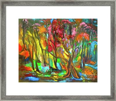 Trees Framed Print by Jenny Lee