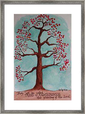 Trees Of Righteousness Illustration Framed Print by Amy Parker Evans