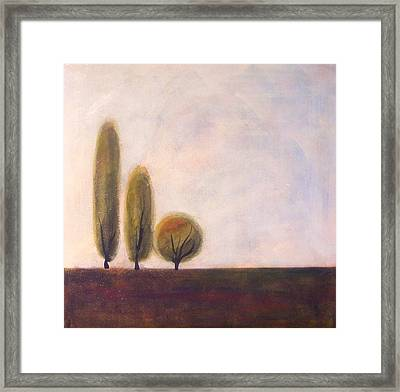 Trees Of Tuscany 2 Framed Print by Victoria Heryet