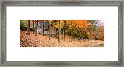 Trees On A Hill, Connecticut, Usa Framed Print
