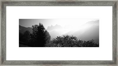 Trees On A Landscape, Dolomites, Alto Framed Print by Panoramic Images