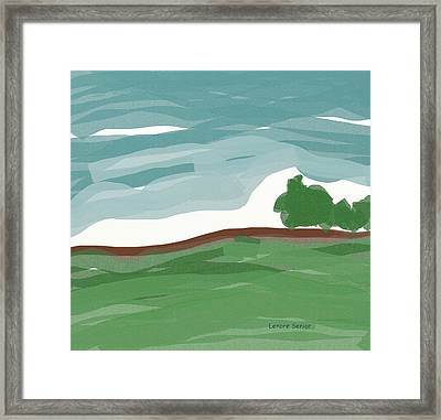 Trees On The Landscape Framed Print