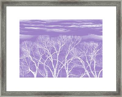 Framed Print featuring the photograph Trees Silhouette Purple by Jennie Marie Schell