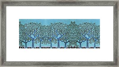 Treescape At Night Framed Print