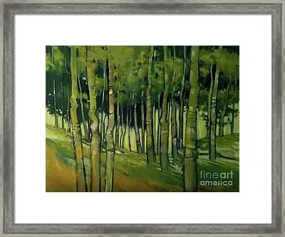 Treesong Summer Framed Print