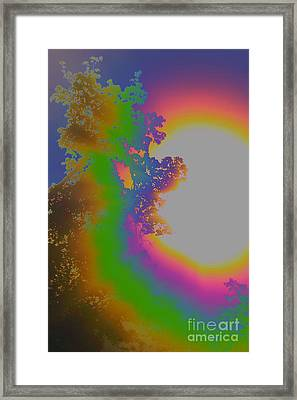 Framed Print featuring the photograph Treesun by Jesse Ciazza