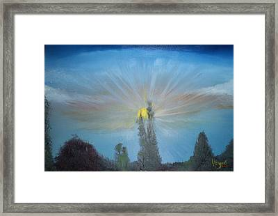 Treetops Framed Print by Barbara Hayes