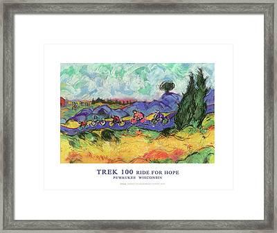 Trek 100 Poster Framed Print by Mykul Anjelo