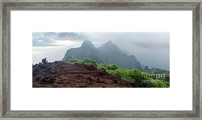Trek Thru Kalalau Framed Print by RJ Bridges