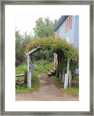 Framed Print featuring the photograph Trellis by Beth Akerman