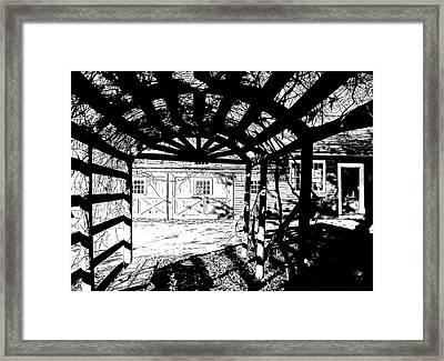 Trellis Pov Framed Print by Betsy Zimmerli