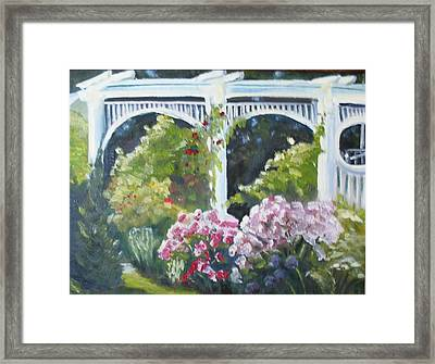 Trellis Framed Print by Wendie Thompson