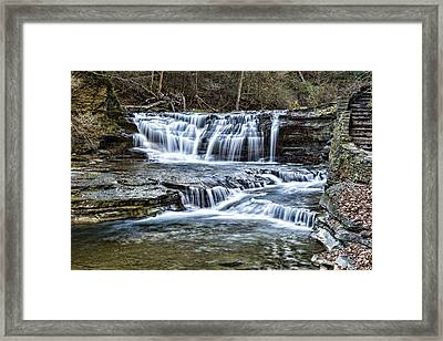 Treman Cascades #1 Framed Print by Stephen Stookey