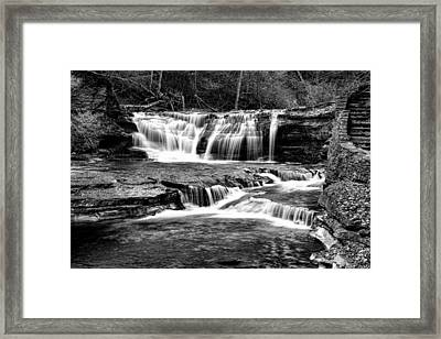 Treman Cascades #2 Framed Print by Stephen Stookey