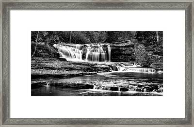 Treman Cascades #3 Framed Print by Stephen Stookey