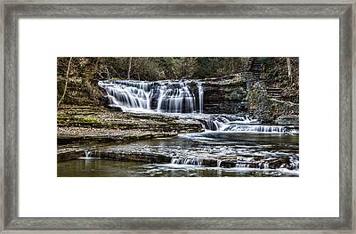 Treman Cascades #4 Framed Print by Stephen Stookey