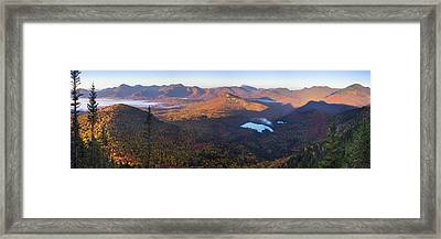 Tremont Autumn Morning Panorama Framed Print