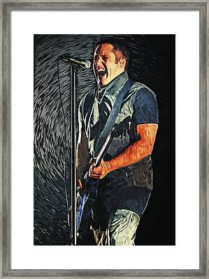 Trent Reznor Framed Print