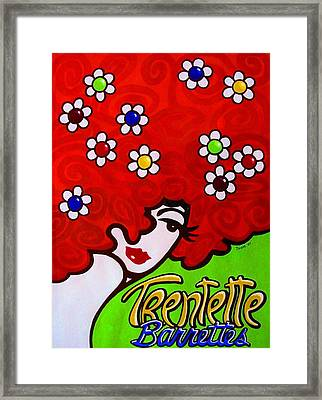 Trentette Barrettes Framed Print by Thom Reaves