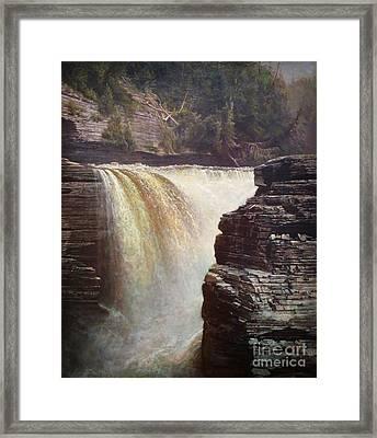 Trenton Falls Near Utica New York Framed Print by Celestial Images