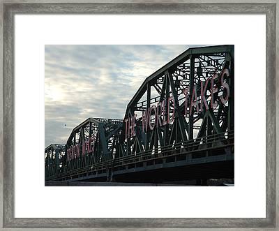 Trenton Makes.... Framed Print by D R TeesT