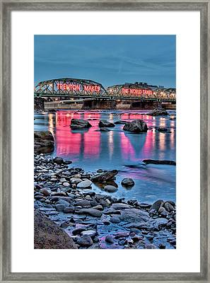Trenton Makes The World Glow Framed Print