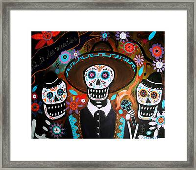 Tres Mariachis Framed Print