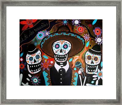 Tres Mariachis Framed Print by Pristine Cartera Turkus