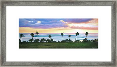 Tres Palmas Framed Print by Kelly Meagher