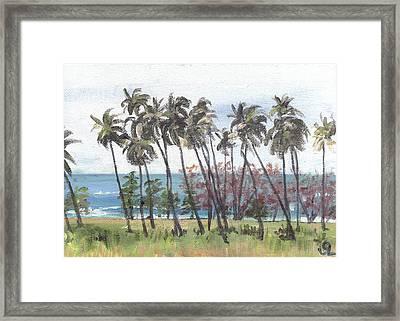Tres Palmas Framed Print by Sarah Lynch