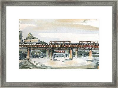 Trestle Bridge Framed Print by Ashley Lathe