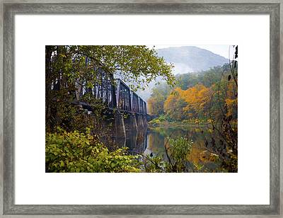 Trestle In Autumn Framed Print