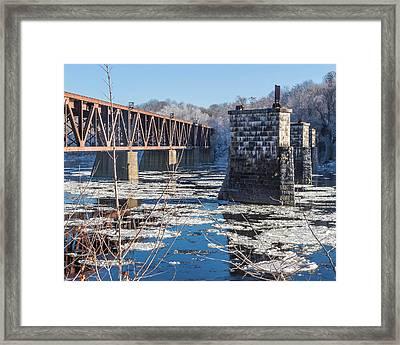 Trestle In Winter Framed Print