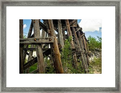 Trestle Timber Framed Print
