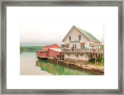 Trevett Country Store Framed Print by Laurie Breton