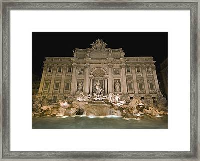 Trevi Fountain At Night Framed Print