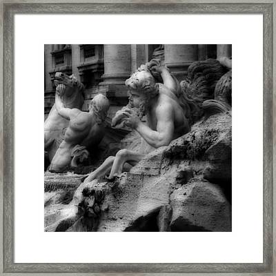 Trevi Fountain Detail 2 Framed Print by Andrew Fare