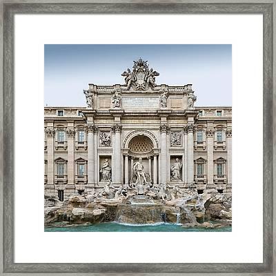 Trevi Fountain Framed Print by Ellen Henneke