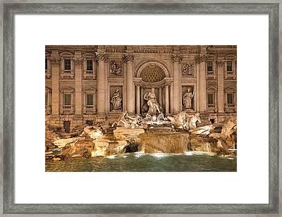 Trevi Fountain Framed Print by Janet Fikar