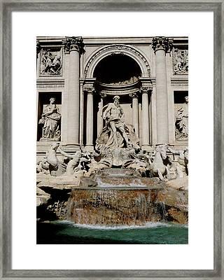 Trevi Fountain Framed Print by Leena Kewlani