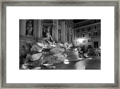 Trevi Fountain Night 2 Framed Print by Andrew Fare