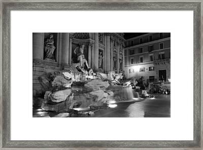 Trevi Fountain Night 2 Framed Print