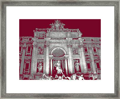 Trevi Fountain - Rome - Italy Framed Print by Al Bourassa