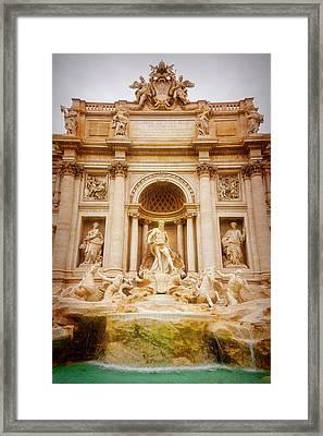 Trevi Fountain Rome Italy Framed Print